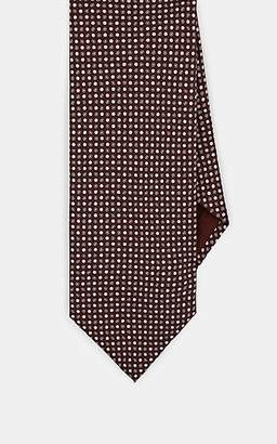 Brioni MEN'S DOT-PRINT SILK JACQUARD NECKTIE - BROWN