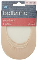 Boots Ballerina Liner Nude 2 Pair Pack