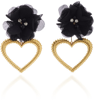 Mallarino Margot 24K Gold Vermeil, Silk and Crystal Earrings