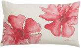 Ethan Allen Pink Hibiscus Hand-Painted Pillow
