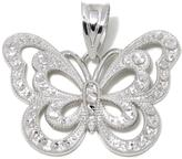 """Michael Anthony Jewelry Diamond-Accent """"Butterfly"""" Sterling Silver Pendant"""