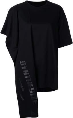 Juun.J Synthesize asymmetric draped T-shirt