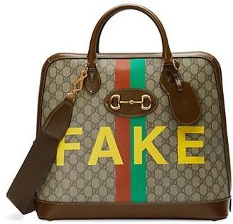 Gucci GG Supreme Horsebit 1955 Small Duffle Bag