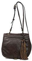 Patricia Nash Soft Italian Leather Collection Karisa Tasseled Small Saddle Bag