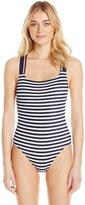 Tommy Hilfiger Women's Lake Side Cross Back One Piece Swimsuit