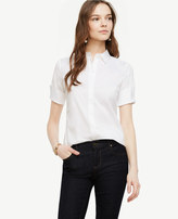 Ann Taylor Petite Short Sleeve Perfect Shirt