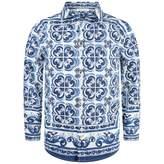 Dolce & Gabbana Dolce & GabbanaBoys Blue Majolica Print Shirt