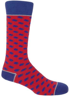 Peper Harow Made In England Scarlet Disruption Men's Socks