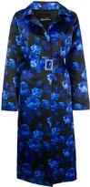 Richard Quinn floral print belted coat