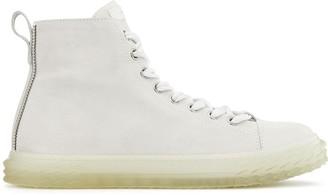 Giuseppe Zanotti High Top Ridged Sole Sneakers