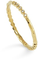 Lagos 18K Gold and Diamond Stackable Ring