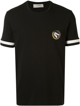 Cerruti striped cuff relaxed-fit T-shirt
