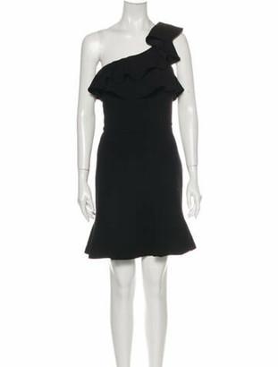 Rebecca Vallance One-Shoulder Mini Dress Black