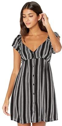 Volcom Sunrise Show Dress (Black/White) Women's Dress