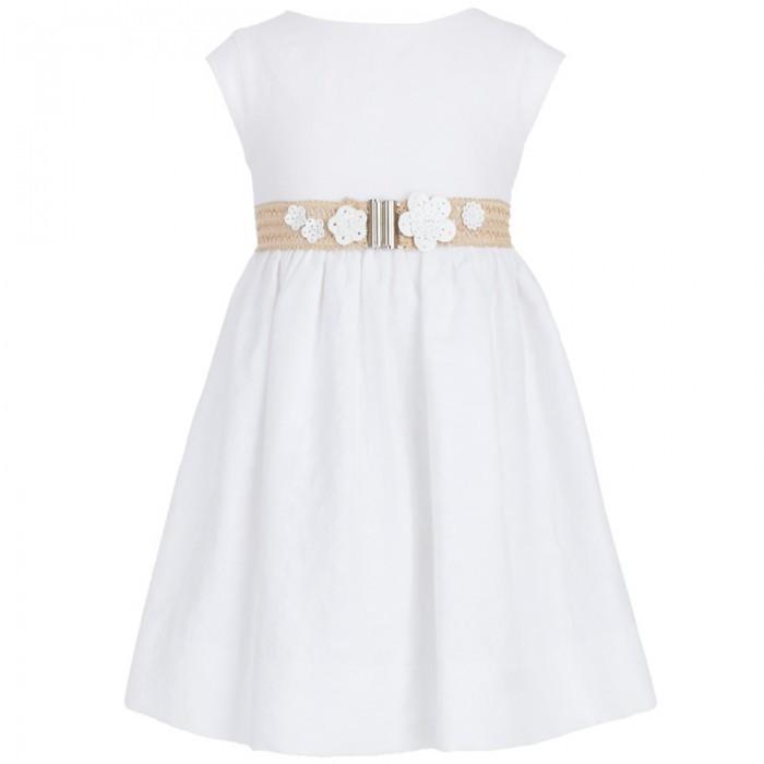 Mayoral White Cotton Flower Dress