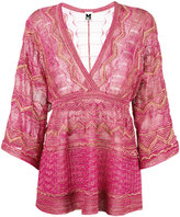 M Missoni - blouse à col v - women -