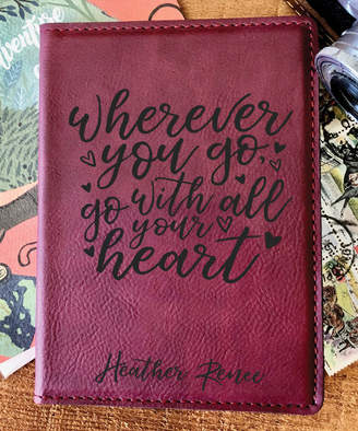 Stamp Out Online Passport Holders rose - Rose 'Go With All Your Heart' Personalized Passport Cover
