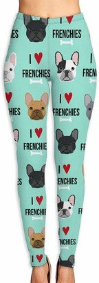 ANTOUZHE Frenchie Dog Fabric Yoga Pants for Women Sport Tights Workout Running Leggings Autumn Trousers