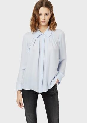 Emporio Armani Double Pure Silk Georgette Shirt