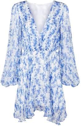 Caroline Constas Olena Silk Floral Dress