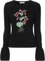 Altuzarra Bovray embroidery trumpet sleeve sweater - women - Spandex/Elastane/Wool - S