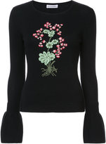 Altuzarra Bovray embroidery trumpet sleeve sweater