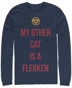 Marvel Men's Captain My Cat is a Flerken, Long Sleeve T-shirt