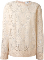 DKNY cut-out lace sweater - women - Nylon/Viscose - XS