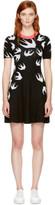 McQ Black Swallow Skater Dress