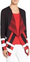 St. John Milano Jacquard Knit Color Block Jacket