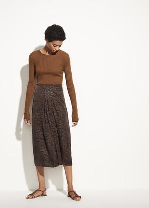 Vince Star Dot Drape Skirt