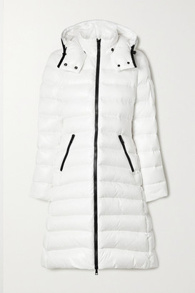 Moncler Moka Hooded Quilted Shell Down Coat - White