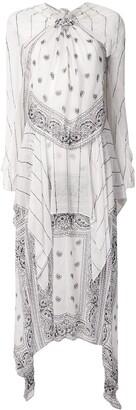 Dion Lee Long Sleeve Bandana Knot Dress