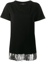 Twin-Set Twin Set embroidered hem T-shirt