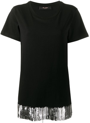 Twin-Set embroidered hem T-shirt