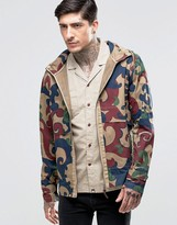 Pretty Green Hooded Jacket In Camo Print