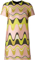 Emilio Pucci jacquard triangle print shift dress