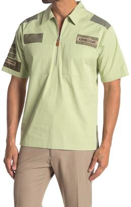 Burberry Quarter Zip Short Sleeve Shirt