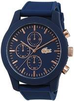 Lacoste Mens Quartz Watch, Chronograph Display and Silicone Strap 2010827