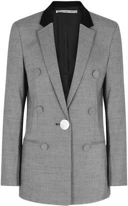 Alexander Wang Grey Brushed-twill Blazer