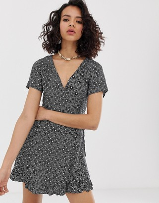Rusty andalusia wrap dress-Black