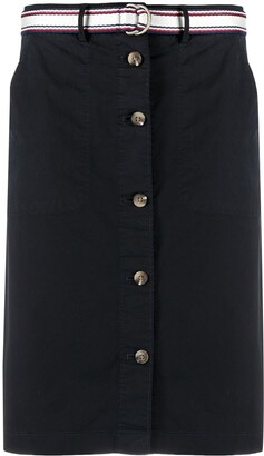 Tommy Hilfiger Buttoned Straight Skirt
