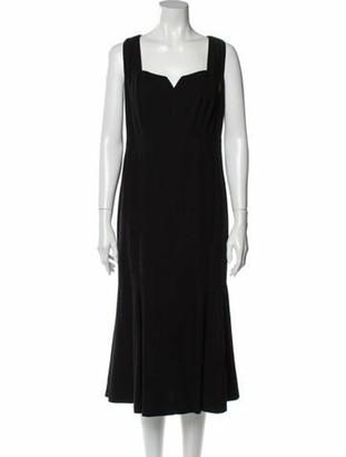 Chanel Vintage Midi Length Dress Black