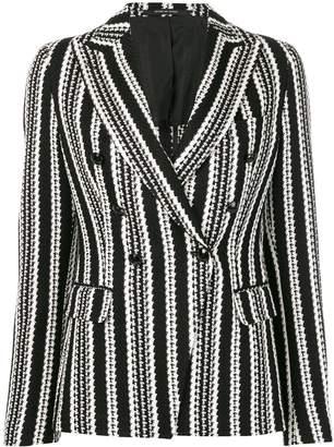 Tagliatore striped monochrome blazer
