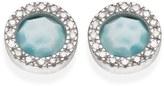 Monica Vinader Women's Naida Diamond & Larimar Circle Stud Earrings
