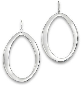 Ippolita Sterling Silver Scultura Large Wavy Oval Earrings