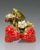 Jay Strongwater Lael Bee on Strawberries Objet