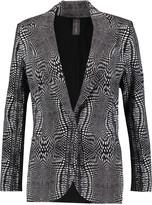 Norma Kamali Printed ponte blazer