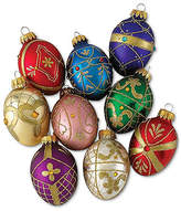 Kurt Adler Set of 9 Decorative Egg Ornaments