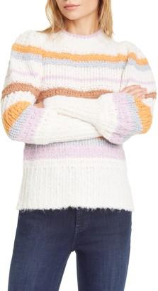 Rebecca Taylor Fluffy Stripe Sweater